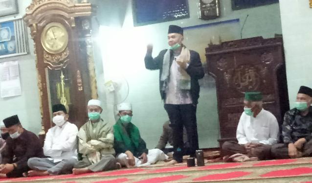 Bupati Adirozal Berikan Tausiyah Pada Peringatan Isra Mi'raj di Masjid Raya Tigo Luhah Semurup