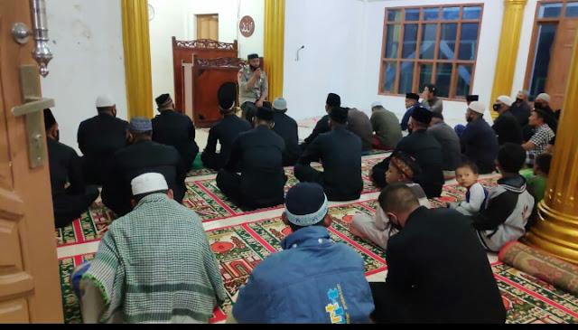 Brimob Kompi 3 Batlyon B Pelopor Laksanakan Saewu di Masjid Al- Amilin