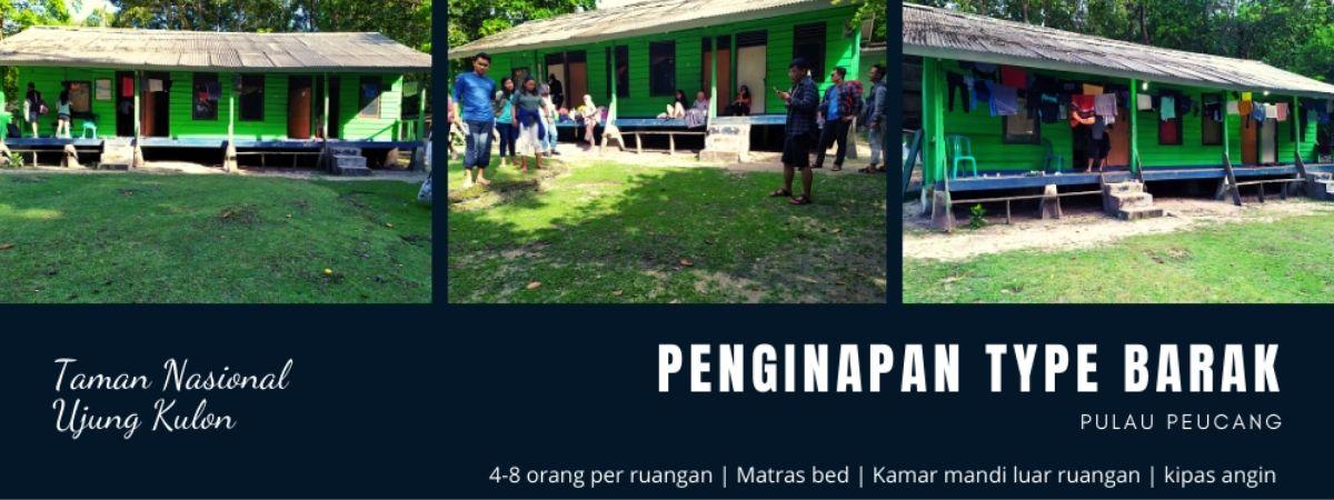 fasilitas dan akomodasi penginapan wisata pulau peucang ujung kulon