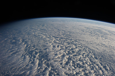 clouds everywhere from low Earth orbit