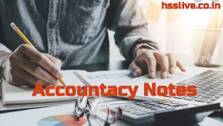 Hsslive Plus Two(+2) Accountancy Notes & Plus One (+1) Accountancy Notes PDF Download