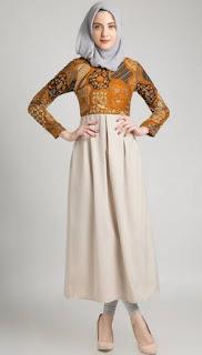 Baju dress batik muslim modern