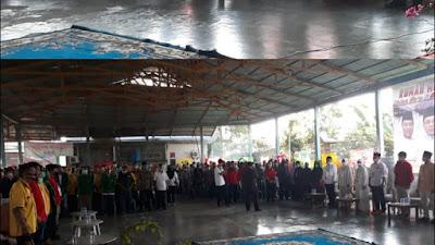 Luar Biasa, Ratusan Simpatisan Calon Bupati Dan Wabup Tanjab Barat Mulyani - Amin Menghantar Kandidat Daftar ke KPUD