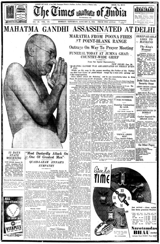 The Times of India, January 31, 1948
