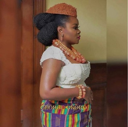 Beautiful Photos from Omawumi's Traditional Marriage Ceremony Holding in Warri