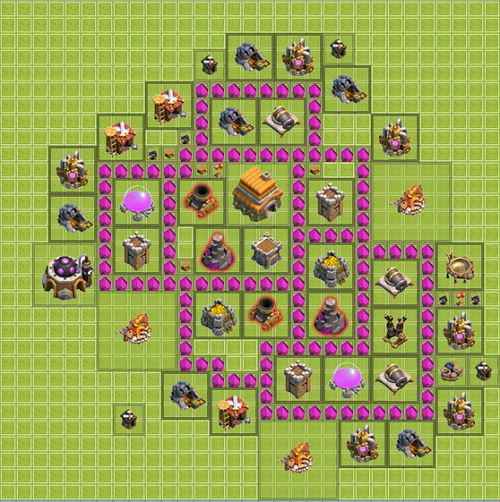 Clash of Clans Town Hall 6 trophy Type