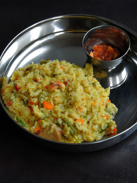 Easy vegetable Pongal