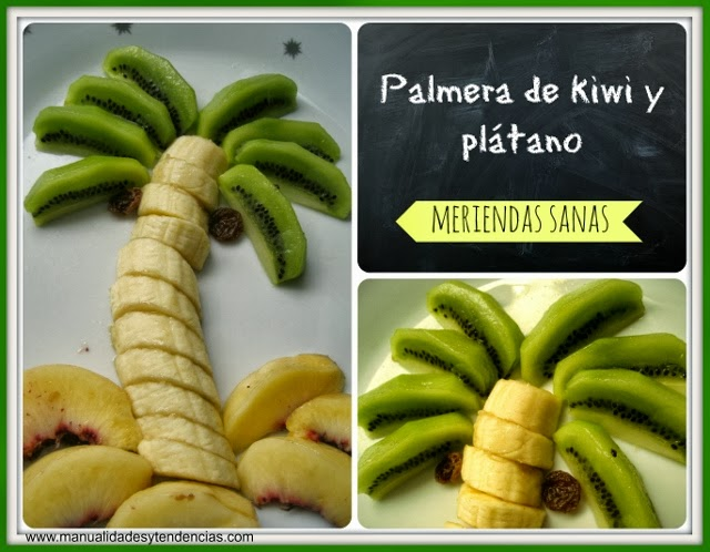 Palmera de kiwi y plátano / Kiwi and banana alm tree / Palmier de Kiwi et bananne