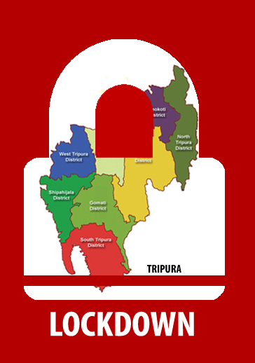Complete lockdown in Tripura from today