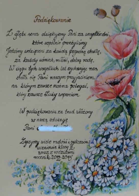 aa9803f7f01d1d Podziękowanie, kartki okolicznościowe. Własnoręcznie wykonane kartki  okolicznościowe. Malowane i pisane ręcznie akrylem, wzór kwiatowy własny .