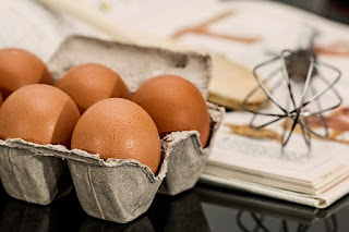 Eggs in a crate