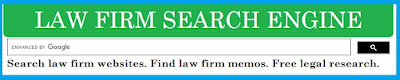 screen snip - Law Firm Search Engine - tagline: Search law firm websites. Find law firm memos. Free legal research.