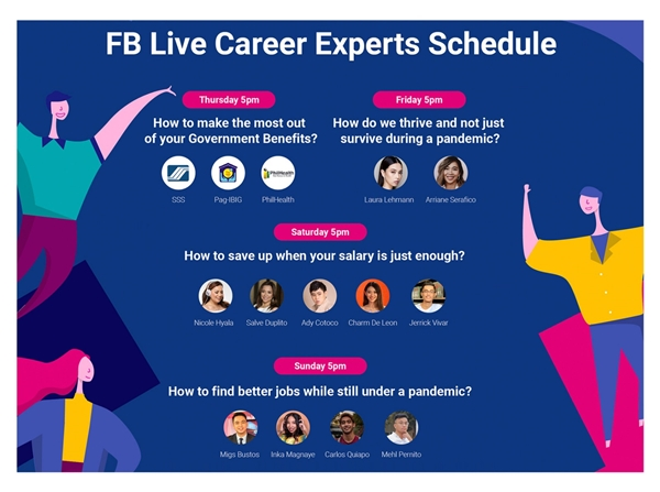FB Live Career Schedule of Talks from the Experts