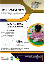 Job Vacancy at TK-SD-SMP Islamic International School PSM Kediri Maret 2020