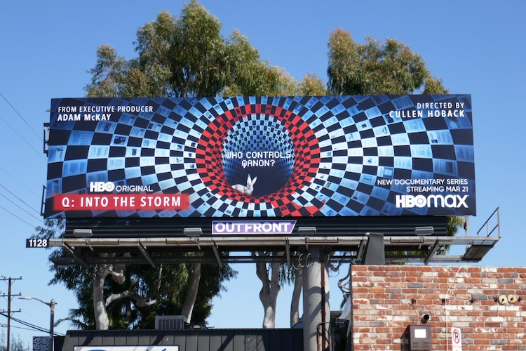 Q Into the Storm series launch billboard
