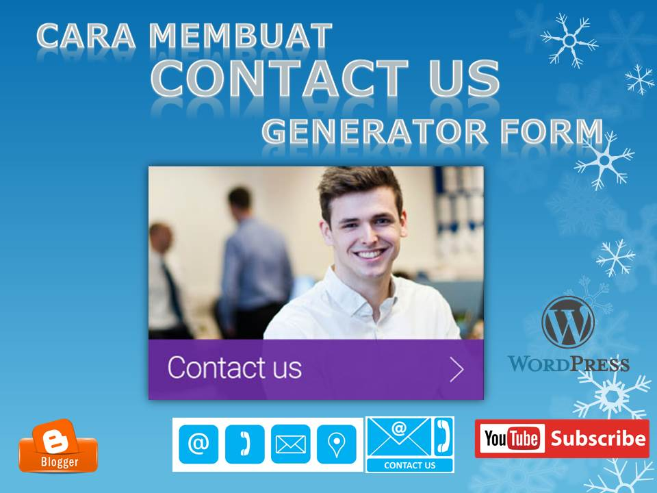 Contact From Blogger generator online dan keren ~ berita teknologi