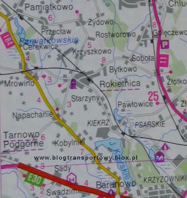 Widok na szlak Mrowino - Rokietnica