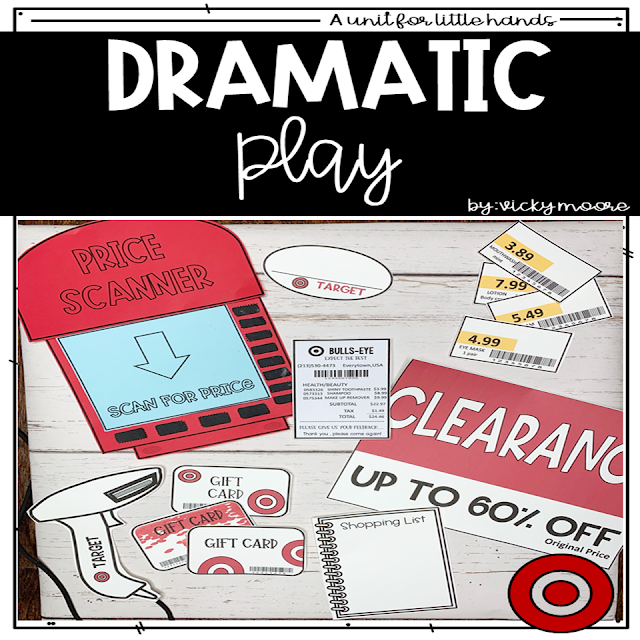Target shopping dramatic play center