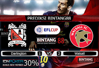 Prediksi Skor Darlington vs Walsall 21 November 2019