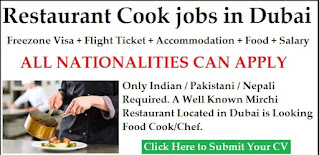 Indian Cook Required Urgently (B.B.Q / Kabab/ North Indian ) in  Sharjah, UAE