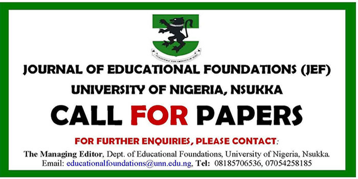 Journal of education foundation UNN