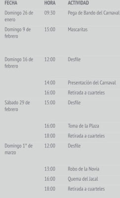 pograma carnaval cholula 2020