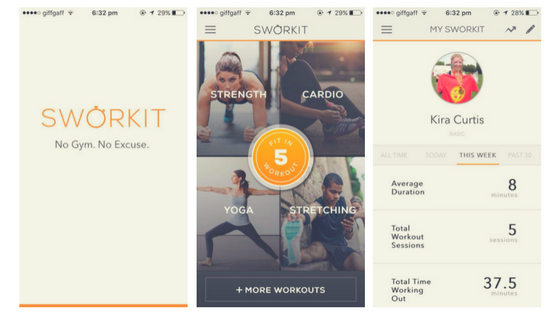 sworkit, workout, exercise, fitness, app, phone, mobile, smart phone, top free, freebies
