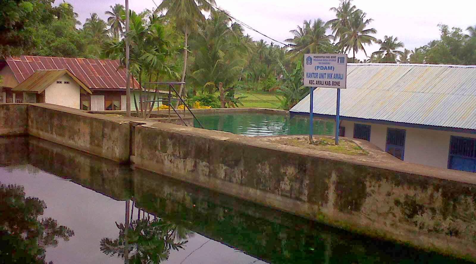 Wisata Mandi air di Taretta Bone desa Amali