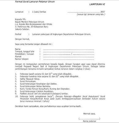 Cara Memuat Surat Contoh Surat Lamaran Kerja Pt Yamaha Pulogadung