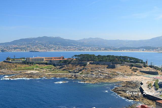 Vistas de Bayona desde la Virgen de la Roca, Pontevedra