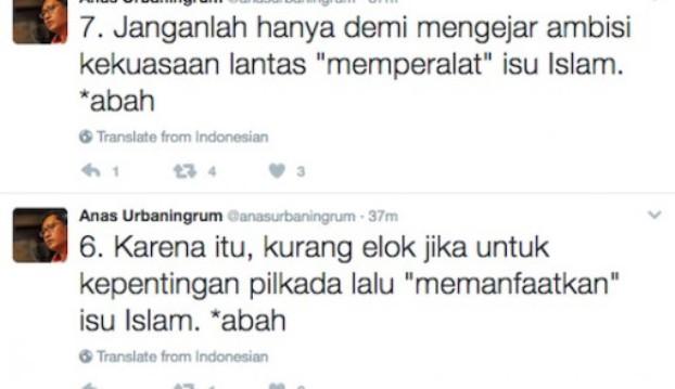 Anas Tuding SBY Memperalat Islam demi Ambisi Kekuasaan