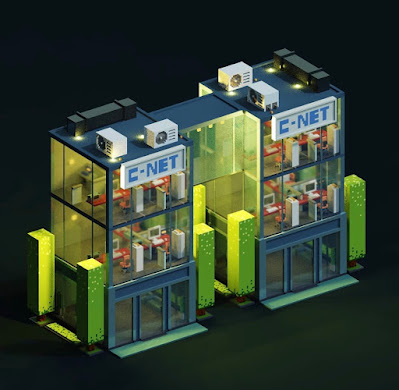 Voxel Glass Building