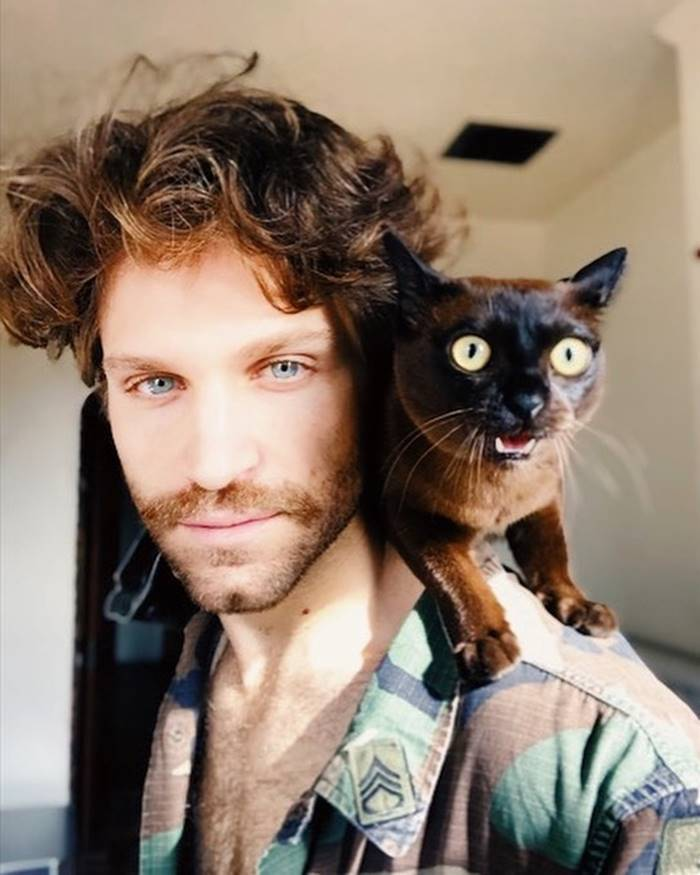 The cute kitten of Keegan Allen.