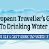 A European Traveller's Guide To Drinking Water #infographic