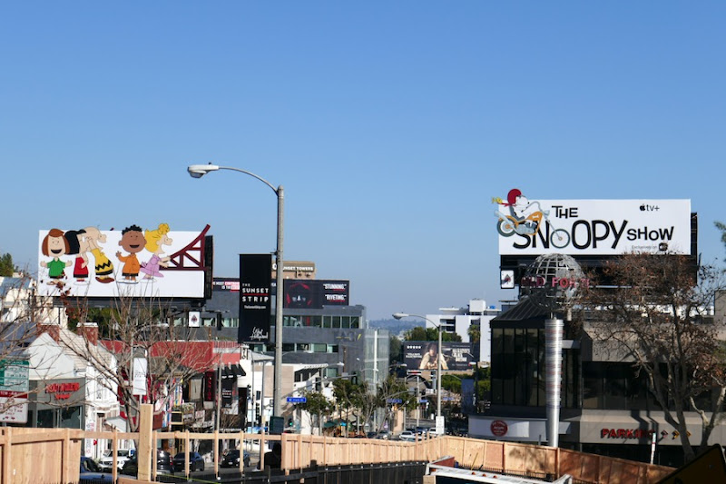 Snoopy Show billboards Sunset Strip