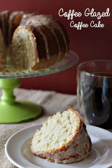 Coffee glazed coffee cake, recipe, dessert, Thoughts Of Home on Thursday
