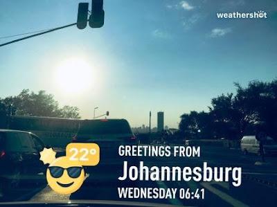 Johannesburg skyline traffic shot with Weathershot 22 degrees