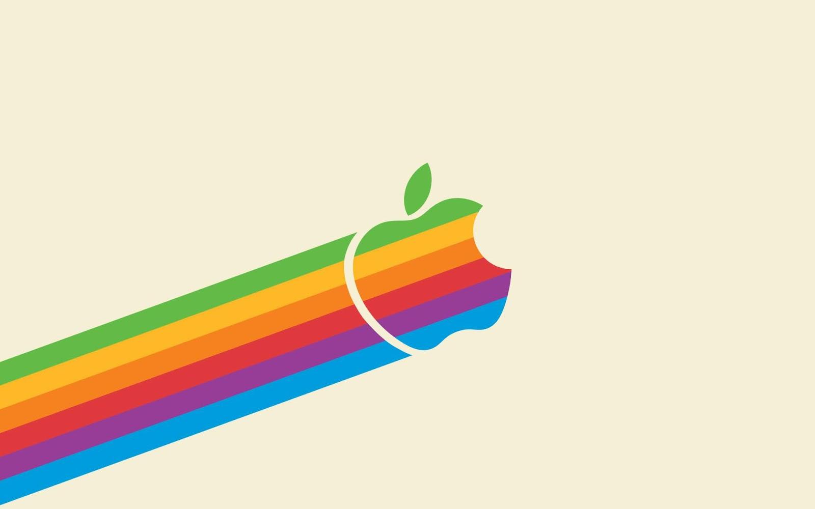 Apple Logo, Rainbow Colors, HD, Technology