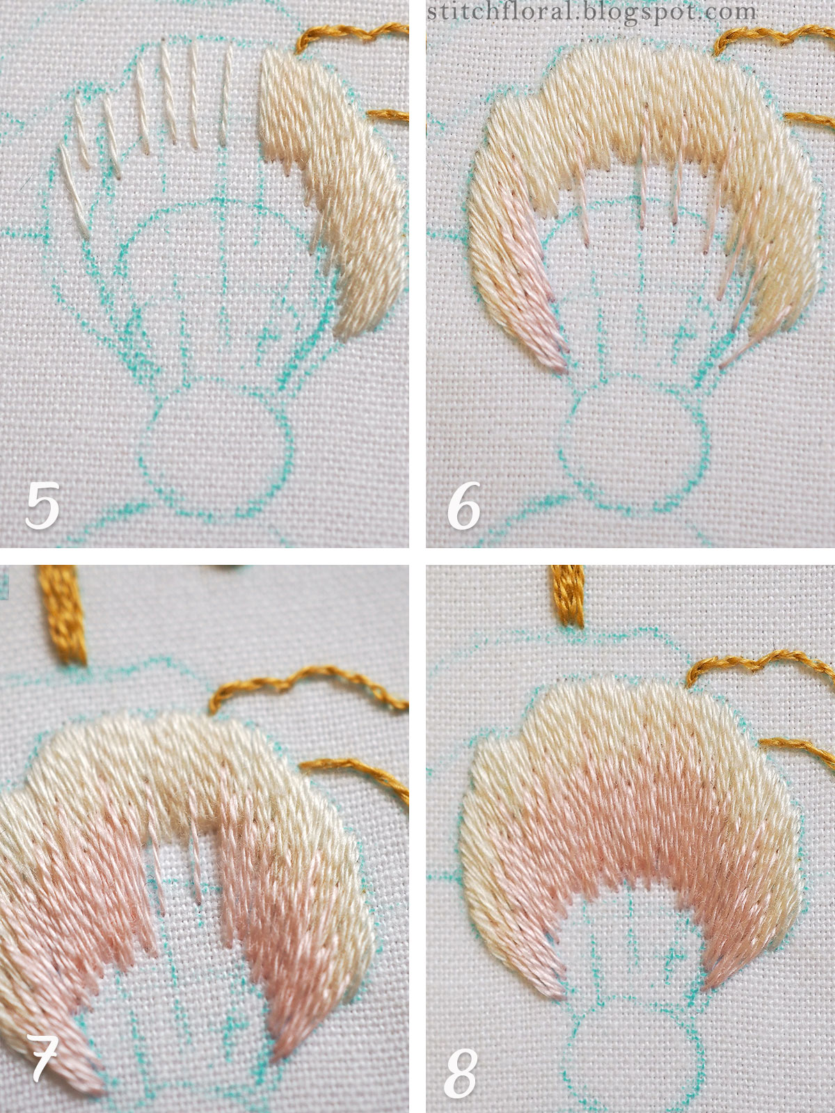 long and short stitching tutorial