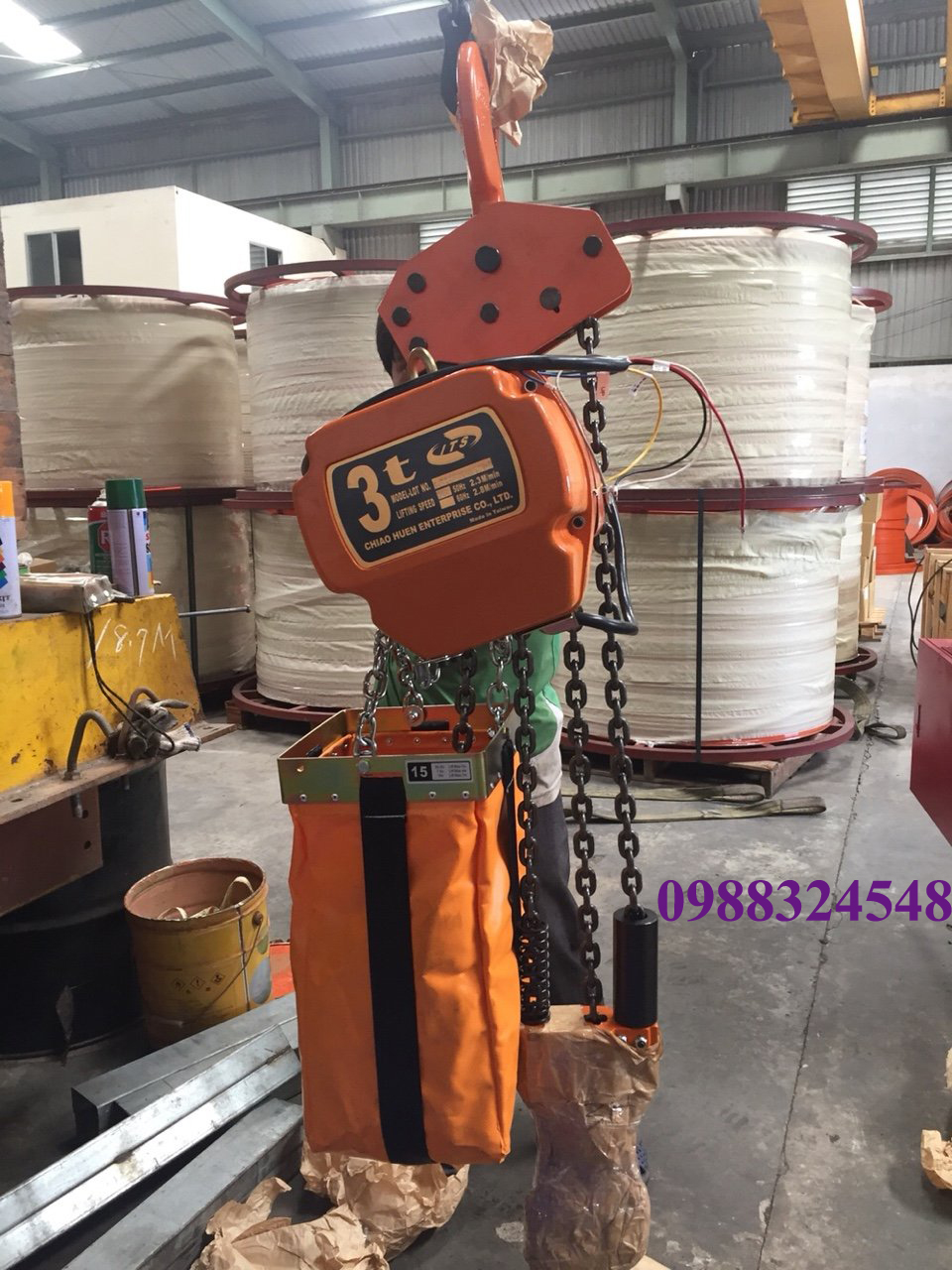 Pa lăng điện xích ITS CH-030L 3 tấn