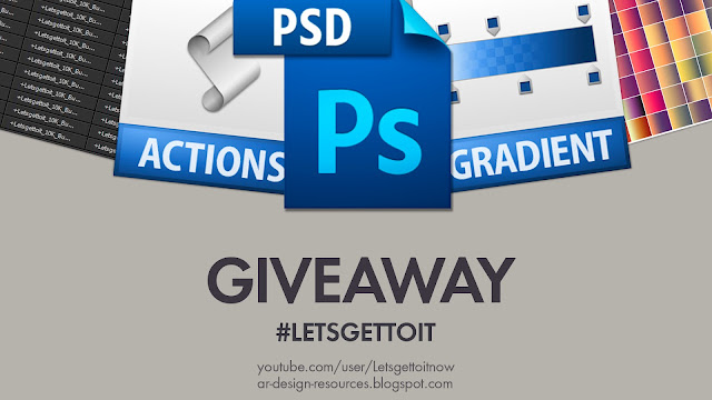Photoshop; Actions, Gradients, PSD Templates - GIVEAWAY