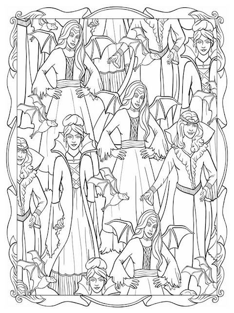 Halloween scapes coloring pages for adult free sample 3