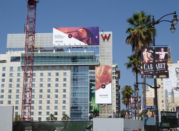 YouTube Music app billboards Hollywood
