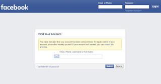 Hack Akun Facebook Metode Lupa Password