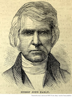 Woodcut portrait of Bishop John Early, unattributed, retrieved 2021 from ebay vendor kenyatabks.