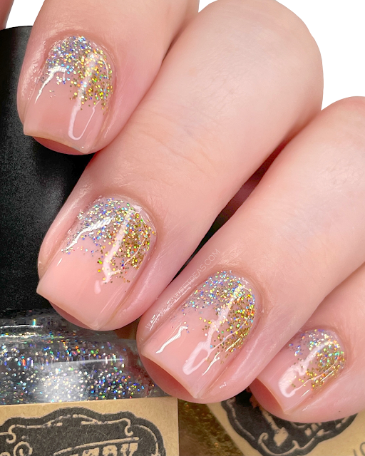 Silver and Gold Gradation Nail Art - 25 Sweetpeas