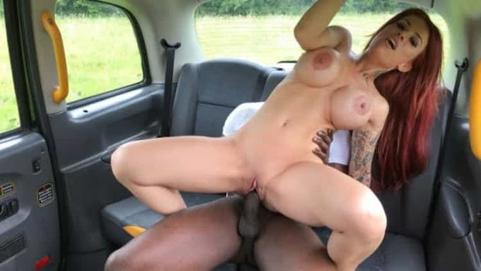 Jennifer Keelings in Busty sexy redhead wants black cock - Fake Taxi