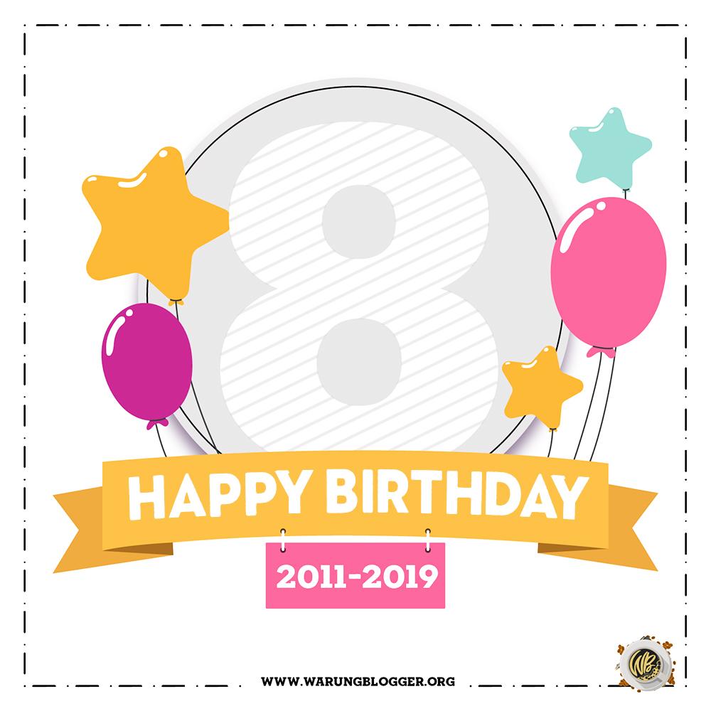 8TahunWB Lomba Ucapan Selamat Ulang Tahun Ke 8 Warung