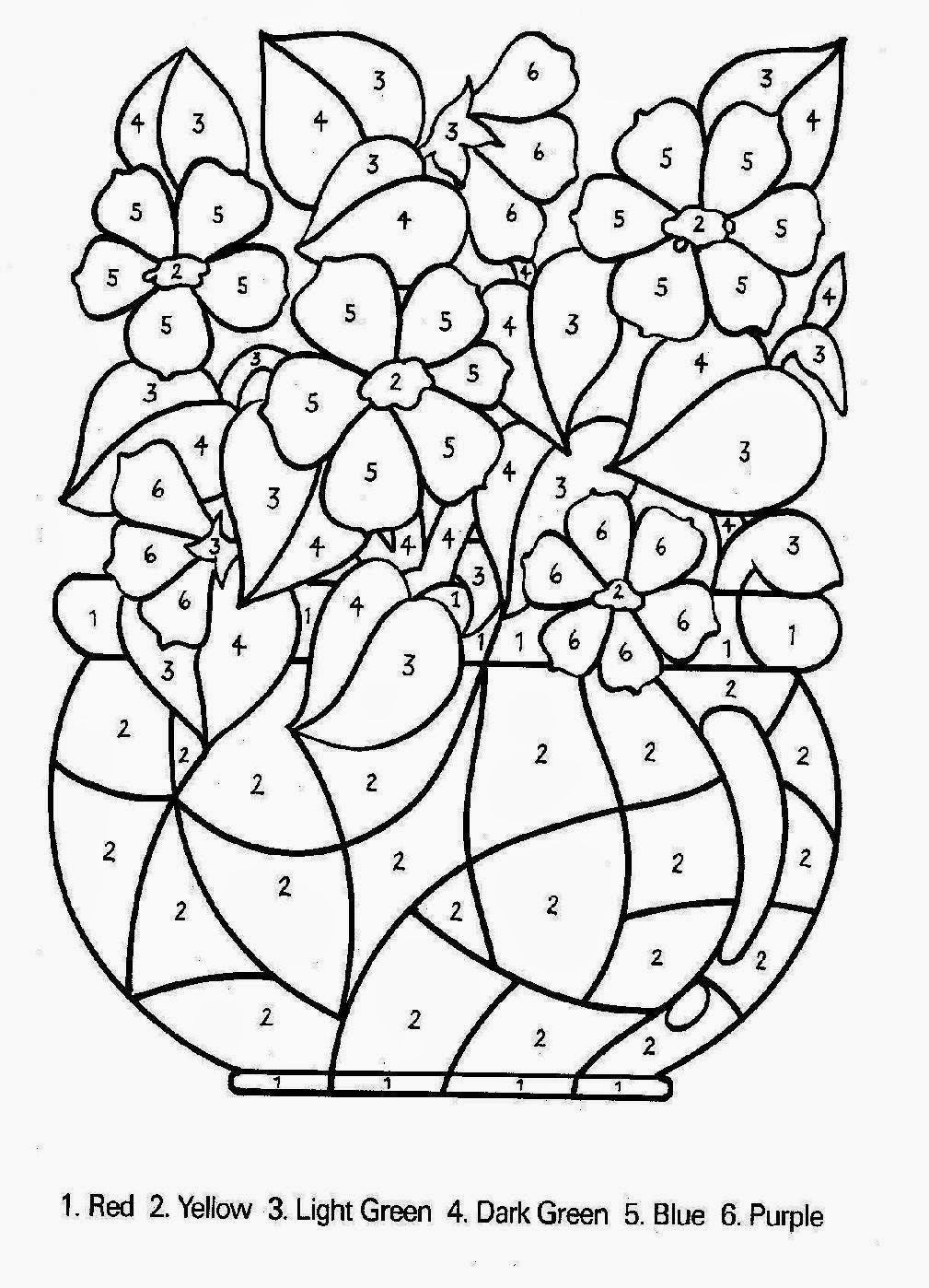 Count by number coloring pages for Count by number coloring pages