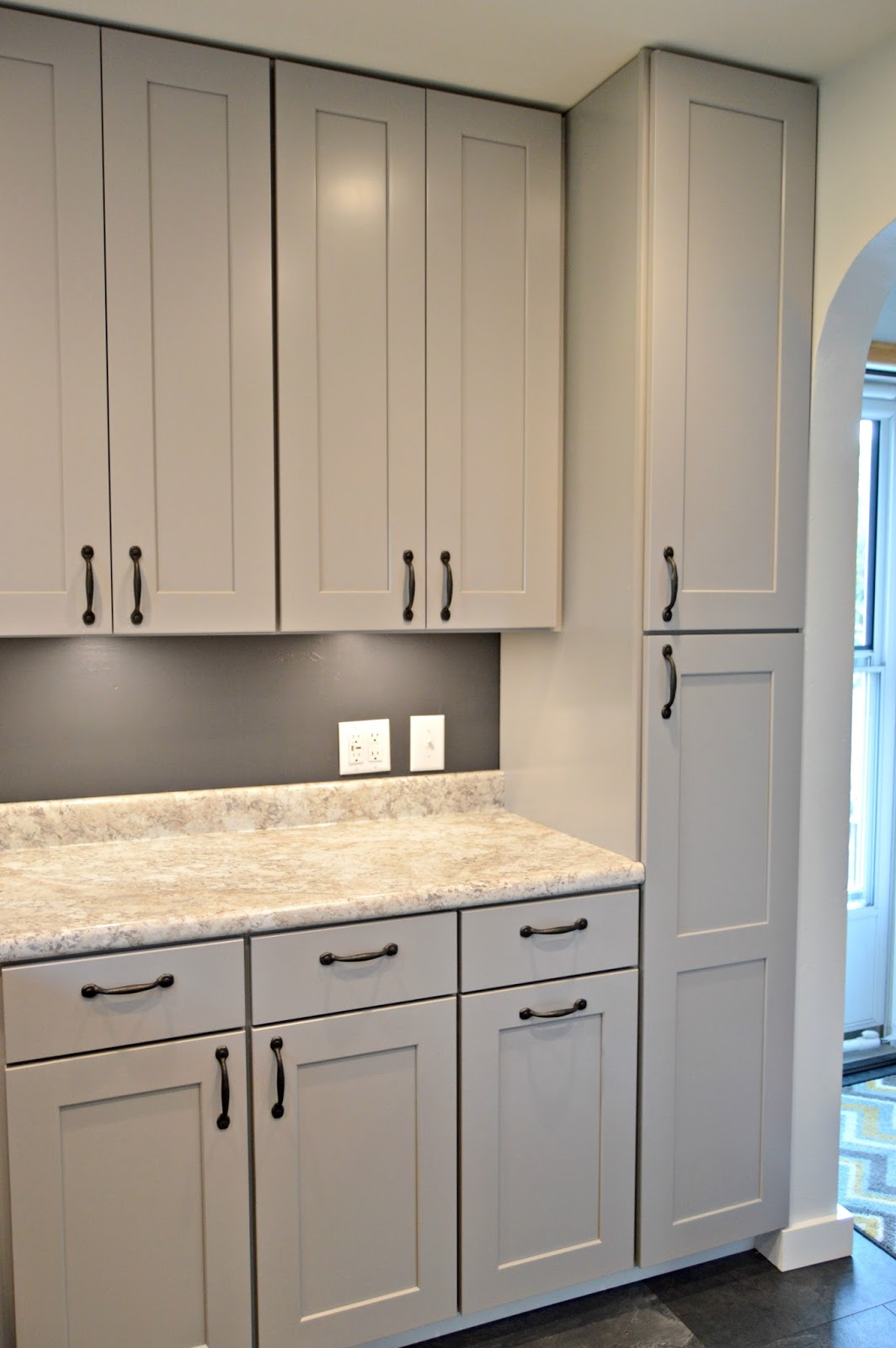 Kruse 39 s workshop kitchen remodel for Grey kitchen wall units